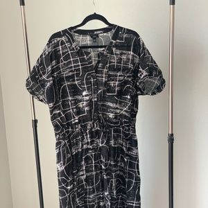 A Line Button Down Dress